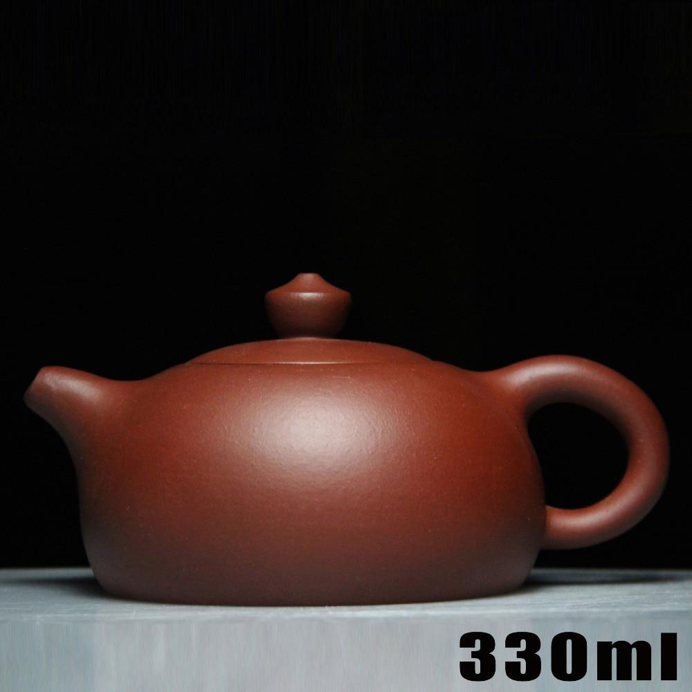 Théière en céramique authentique Yixing théières en argile violette théière 330 ml Bouns 3 tasses chinois fait à la main Kung Fu Set bouilloire en porcelaine