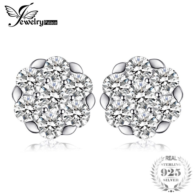 JewelryPalace Frame Stud Earrings Soild 925 Sterling Silver Jewelry For Women We