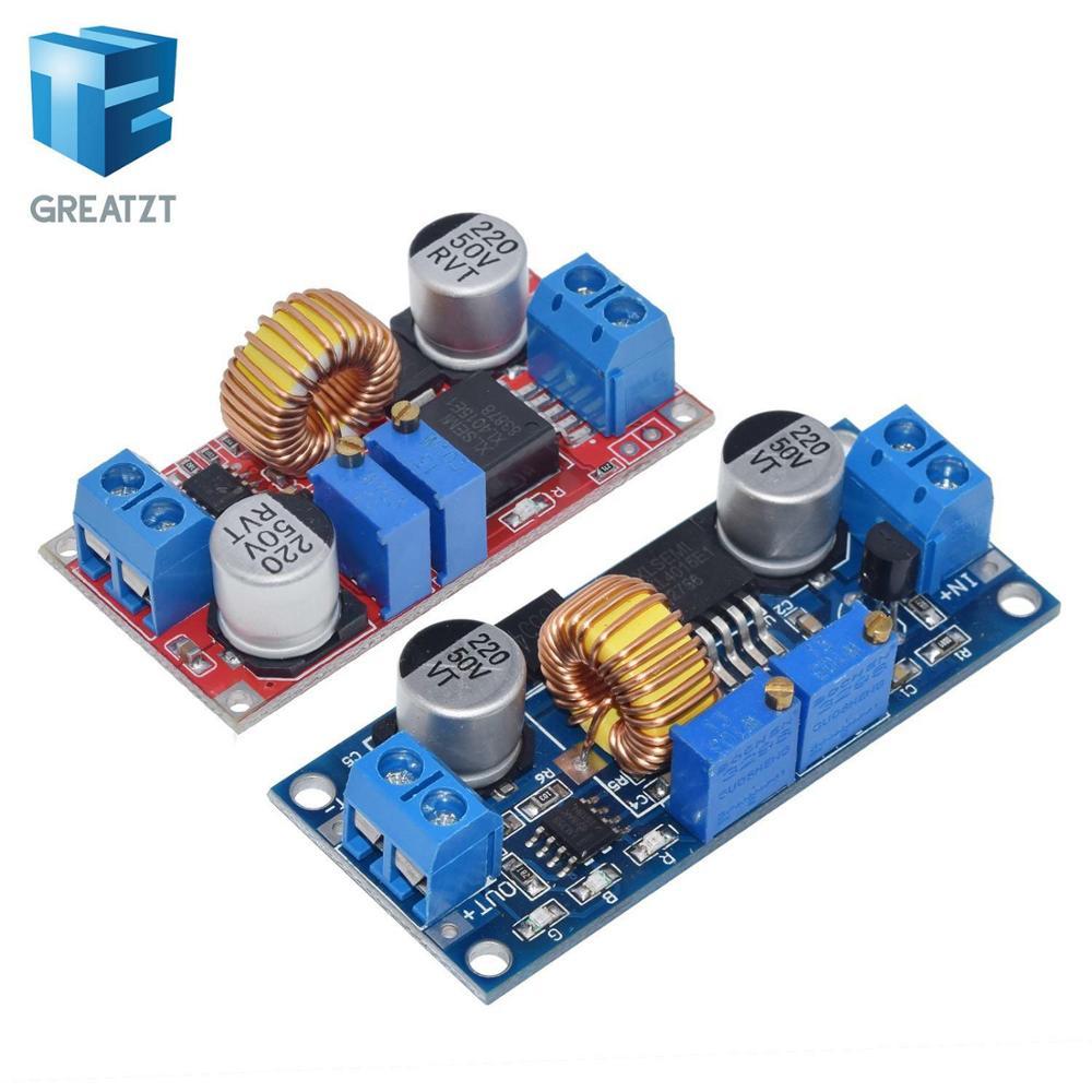 1 шт. 5A DC CC CV литиевых Батарея Шаг вниз зарядки LED Мощность конвертер литиевых Зарядное устройство шаг Пух модуль XL4015 синий