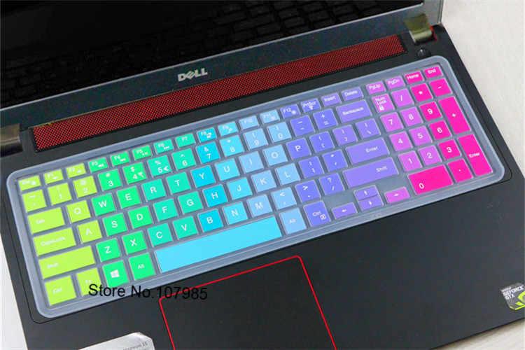 15 y 17 pulgadas teclado de silicona cubierta de película Protector de la piel para Dell Inspiron 15C 15 17 3000 de 5000 serie 7000 15MR 15M 15MD M3541R