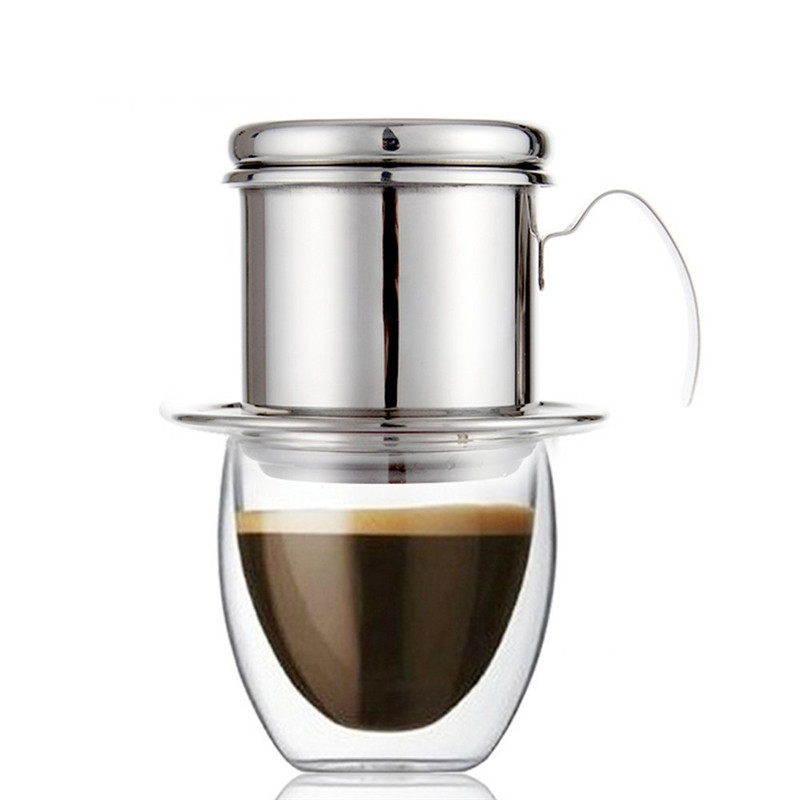 ROKENE Coffee Filter Press, Stainless Steel Vietnamese Coffee Filter Set Best Coffee Dripper for Home/Kitchen/Office/Outdoor analog watch