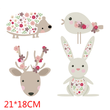 Cute cartoon bird beer rabit Patches Heat Transfer Iron On Patch A-level Washable Clothes Stickers Easy Print By Household Irons