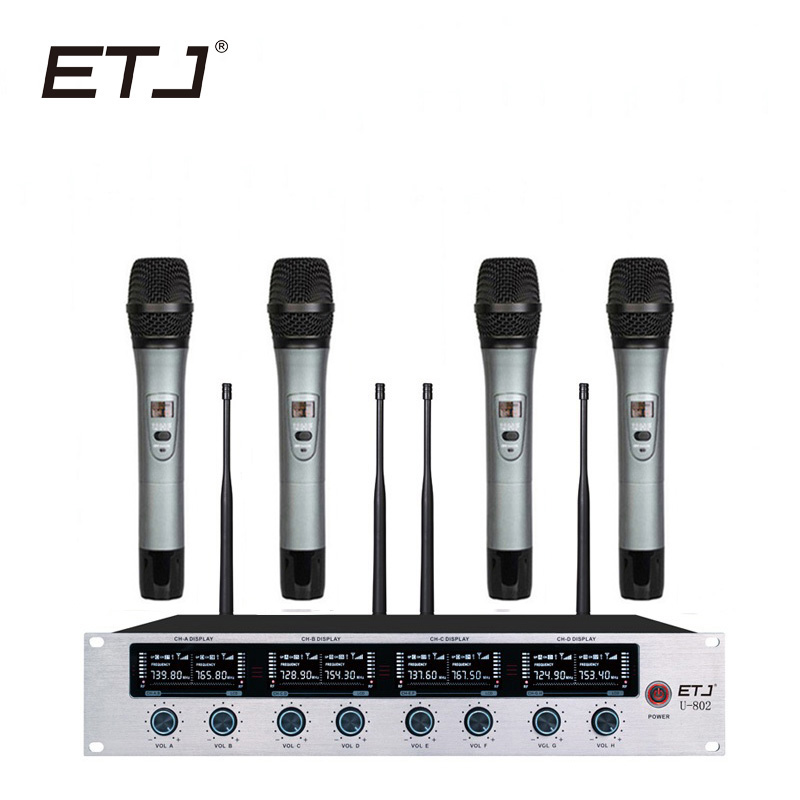ETJ bežični mikrofon sustav Profesionalni mikrofon 8 kanalni - Prijenosni audio i video - Foto 5