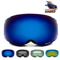 New Brand Ski Goggles Double UV400 Anti Fog Big Ski Mask Glasses Skiing Professional Men Women