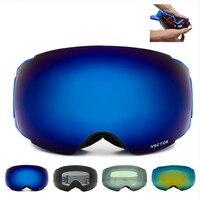 New Brand Ski Goggles Double UV400 Anti Fog Big Ski Mask Glasses Skiing Professional Men Women