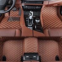 Автомобильные Водонепроницаемая коврик кожаные автомобильные коврики для FIAT 500 500C 3D пользовательские подходят коврики для автомобиля ковр