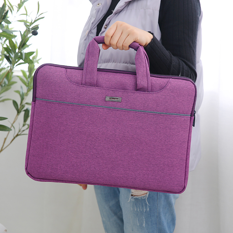 Fashion Creative A4 File Folder Filling Document Bag Multifunction Waterproof Portable Office File Bag Handle Briefcase Flax Bag