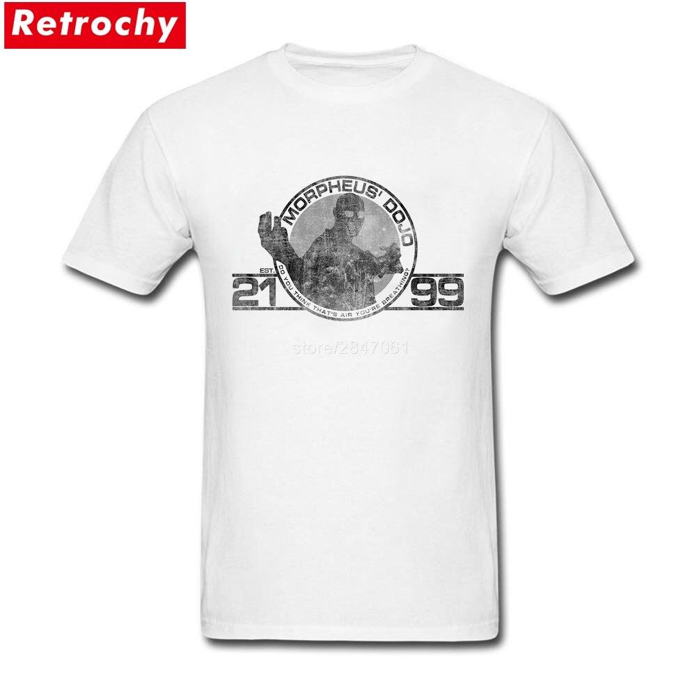Desain t shirt elegan - Morpheus T Kemeja Pria Elegan Lengan Pendek Spandex Katun Film Chracters T Shirt Mens
