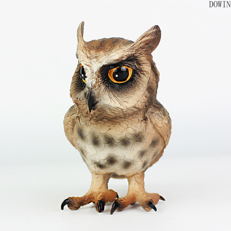Simulation Owl Bird Figurines Model PVC Bird Animals Action Figures Collection Toys For