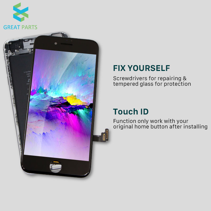 GREAT PARTS 1PCS LCD For iPhone 7 8 X XS XR XS Max Incell LCD Oled Display Touch Screen Assembly Replacement Good 3D touch