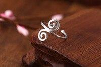 925 Sterling Silver Ring Fashion Plain Silver Ring Women Gift Finger Rings Tail Ring E160632