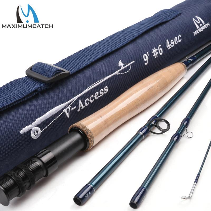 купить Maximumcatch V-access 9FT Fly Fishing Rod SK Carbon Fiber 6WT Half-well Fast Action  Fly Rod With Cordura Tube недорого