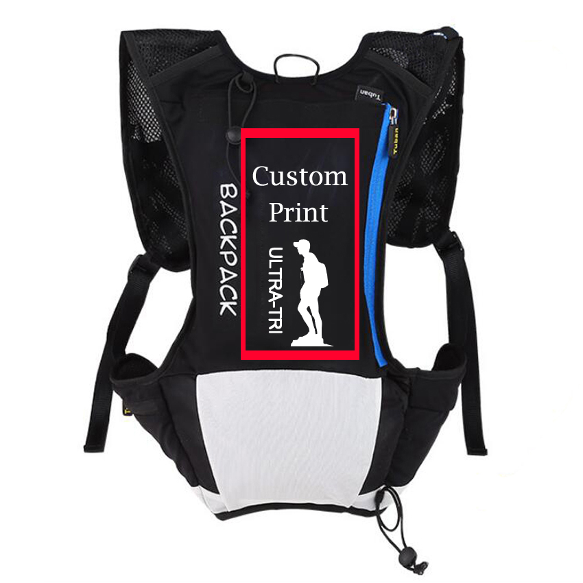 ULTRA-TRI Customized Print Trail Running Backpack Personal Style Text Image Lightweight  Bag Cycling Hiking 22982f2e37c8d