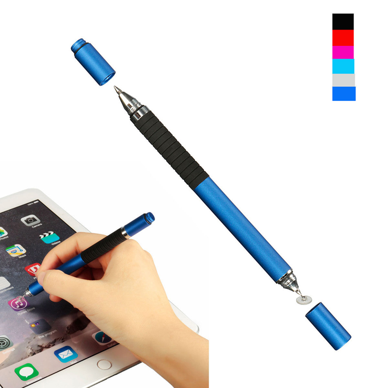 6 Colors Toch Pen 2in1 Stylus Pen Capacitive Touch Screen Stylus Ballpoint Pen For IPhone For Tablet PC