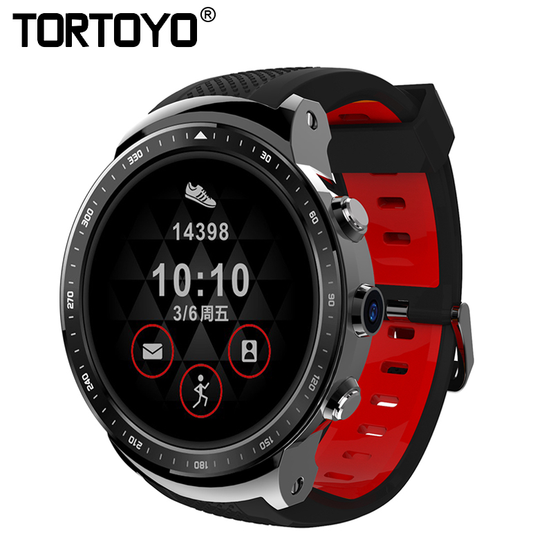 TORTOYO X300 Round Smart Watch 1GB+16GB 3G Sim Card GPS Android OS Smartwatch Phone Sports Wristwatch Heart Rate Monitor Camera