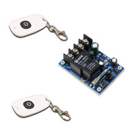 DC 12 48V Wireless Remote Control Switch Radio Control Switch 40A Relay Receiver 2Pcs White Waterproof