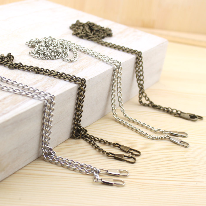 gold/black/silver plated O Shape chain Locket Chains metal chain for DIY Bag Accessories Purse Frame Bag Handle Purse Chain