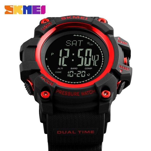 4f5df5d9090 SKMEI Homens Esportes Relógios de Luxo Da Marca Relógio de Calorias  Pedômetro Digital Altímetro Barômetro Bússola