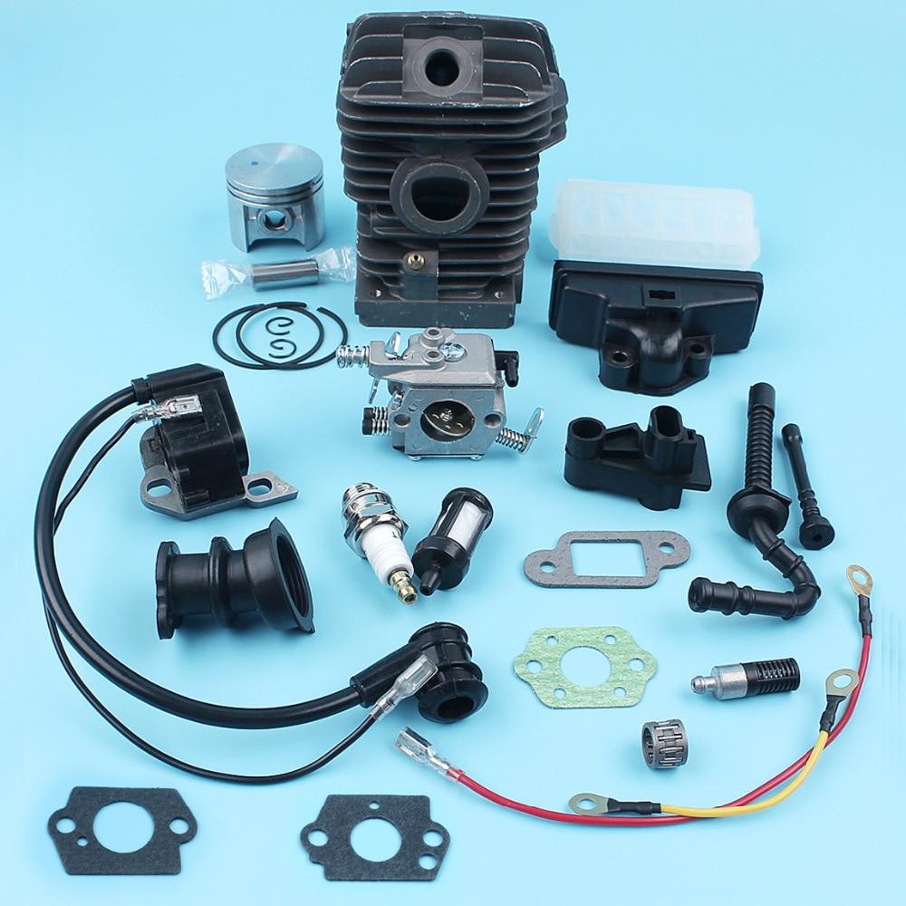 Carburateur de bobine d'allumage de Piston de cylindre de 42.5mm pour STIHL MS230 MS250 023 025 tuyau de ligne de filtre à huile de collecteur d'admission de tronçonneuse