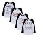 EABoutique New year Winter Cotton girls clothes Fashion Letter printed baby girls tops full sleeve
