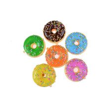 JINHF Sprinkles Chocolate Donuts Squishy Jumbo Sweet Candy Bread Slow Rising Phone Straps Soft Charms Scented Kid Fun Toy Gift(China)