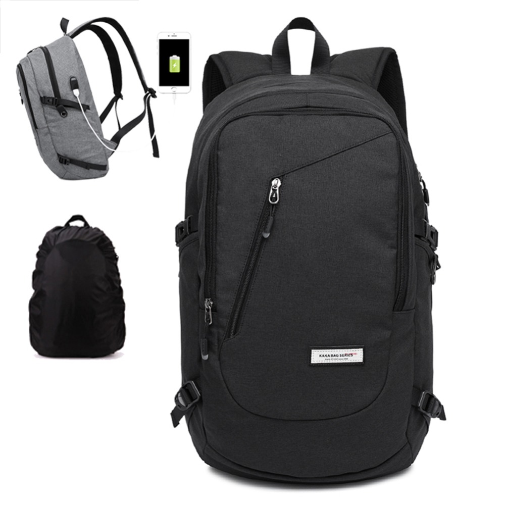 ФОТО Multi-function Daily Backpack Men Unisex Daypack Oxford Knapsack Light Weight Travel Rucksack School Bag with Charging USB Port