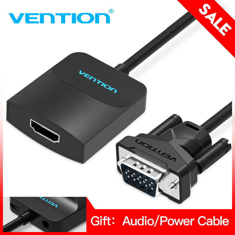 Vention VGA to HDMI Converter Adapter Cable 1080P Analog to Digital Video Audio Converter for PC Laptop to HDTV Projector vga to hdmi converter 1080 p vga to hdmi adapter with video 1080p for pc laptop to hdtv projector