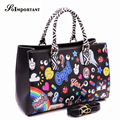 BAO BAO Handbag Women Leather Bag Women Fashion Cartoon Casual Tote Crossbody Bag Female Anime Big Large Shoulder Bag Handtassen