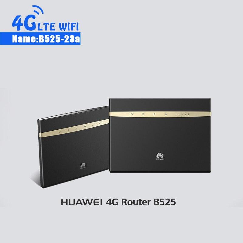Desbloquear Huawei B525 B525S-23a b525s-23a 4g LTE CPE Router 300 Mbps WIFI Gateway Router Gato. 6 Hotspot móvel + 2CPS 4g Antena