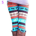 Snowflake Christmas Deer Leggings Girl Winter Fashion Colorful Knit Cotton Blend Legging For Christmas Hot Women Clothing 7BA119