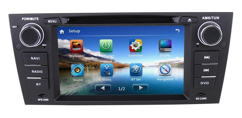 Dvd-Player Gps Navigation Stereo-Head-Unit Bluetooth-Radio Free-Maps 2-Din 7inch BMW