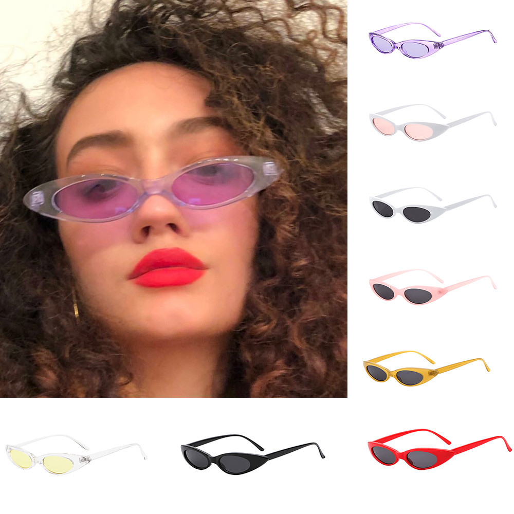 1 Pair Sunglasses Retro Vintage Clout Cat Unisex Sunglasses Rapper Oval Shades Grunge Glasses For Travel And Go Out To Use #7 Bringing More Convenience To The People In Their Daily Life