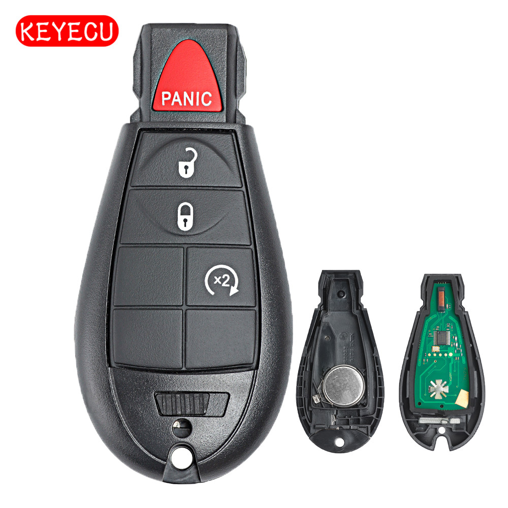Keyecu Remote Key Fob Button Mhz Pcf A Chip For Dodge Ram on Dodge Ignition Key Replacement