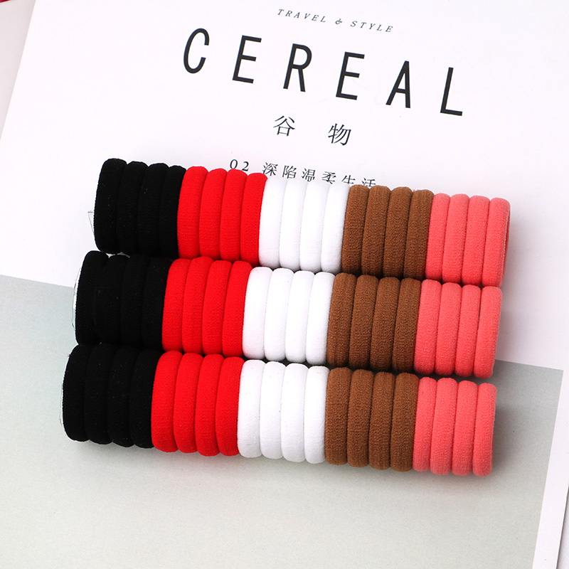50pcs/lot Kids Hair Rope Hair Accessories Scrunchy Elastic Hair Bands Hairband Girls Decorations Rubber Band For Hair 3cm