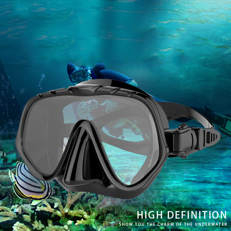Diving Goggles Waterproof Clear Vision Silicone Seal Strap Swimming Glasses ASD88