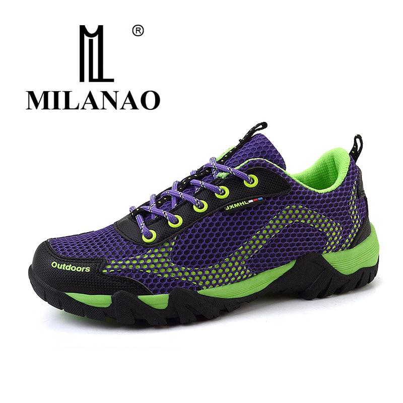 47a6cdbbe MILANAO Для мужчин S кожа Треккинговые Ботинки 2016 г. Весна прогулочная  обувь для Для мужчин Спорт тапки треккинговые ботинки Для мужчин S Zapatos .