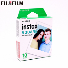2017 Genuine Fujifilm Instax 10 Sheet SQUARE White Edge film Photo paper For SQ10 Hybrid share sp-3 SQ Camera