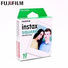 2017 Genuine Fujifilm Instax 10 Sheet SQUARE White Edge film Photo paper For Instax SQUARE SQ10 Hybrid share sp-3 SQ Camera