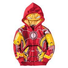 anime Iron Man style boy hoodie sweatshirt cartoon cotton red hoodie sweatshirt for 2-10yrs boy children outerwear clothes hot