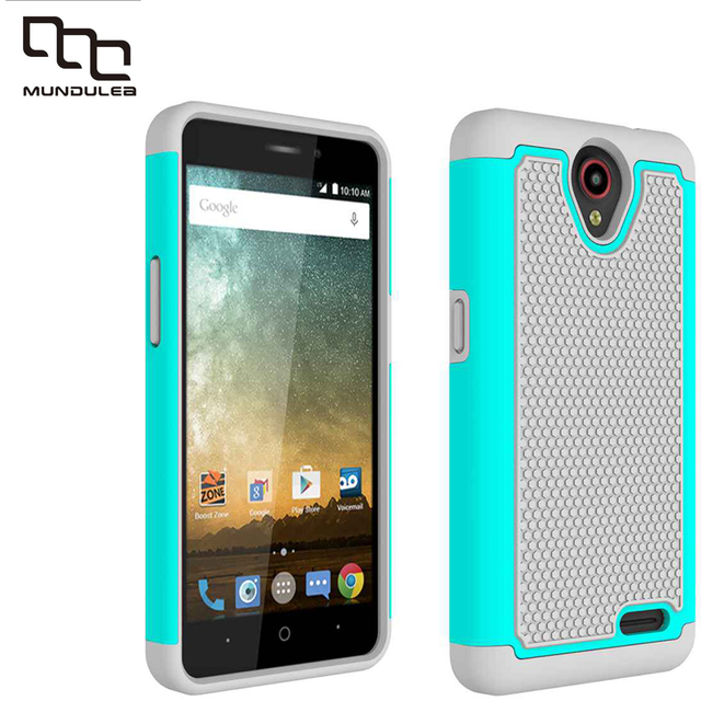 Mundulea 2 IN 1 Anti-slip Wave point Patter Cover for ZTE N9132 Case Active Silicone+PC Covers for for ZTE Z981 Cases Shockproof