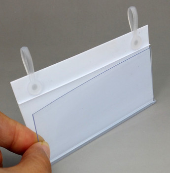 100x55mm PVC Plastic Price Tag Card Label Display Clip Holders By Hanging Buckle On Retail Mesh Rack Basket Shelf 1000pcs