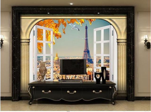 AuBergewohnlich Nach 3D Foto Tapete Europäischen Minimalistischen Schlafzimmer Wohnzimmer  TV Hintergrund Malerei Bögen 3D Streifen Abstrakte Wandbild