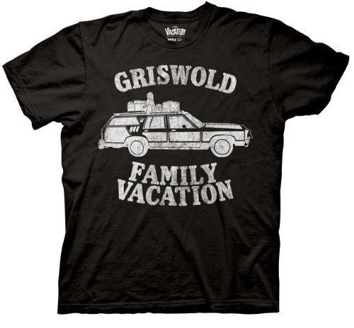 Adult Black Comedy Movie Christmas Vacation Griswold Family Vacation T Shirt Tee image