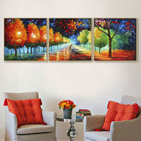 Artist Sales Hand Painted Oil Painting On Canvas 3 Piece Canvas Art Home Decoration For Living
