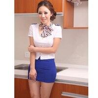 Hugguh nuevo mujeres la ropa interior sexy azafata traje cheongsam rol cosplay gran tamaño Ropa exótica sl1582615