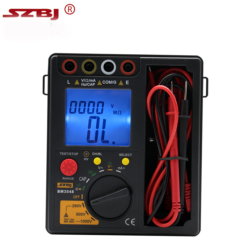 High quality Resistance Meter BM3548 2 in 1 Digital Insulation Resistance Test meter multimeter megohmmeter megger ohm tester футболка классическая printio смешарики