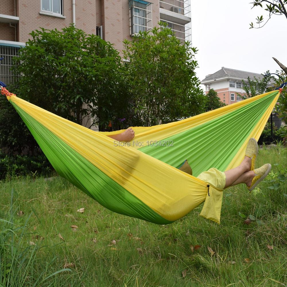 30pcs Outdoor Parachute Cloth Sleeping Hammock Single Camping Hammock DHL Fedex Free shipping #FH8-45 от Aliexpress INT
