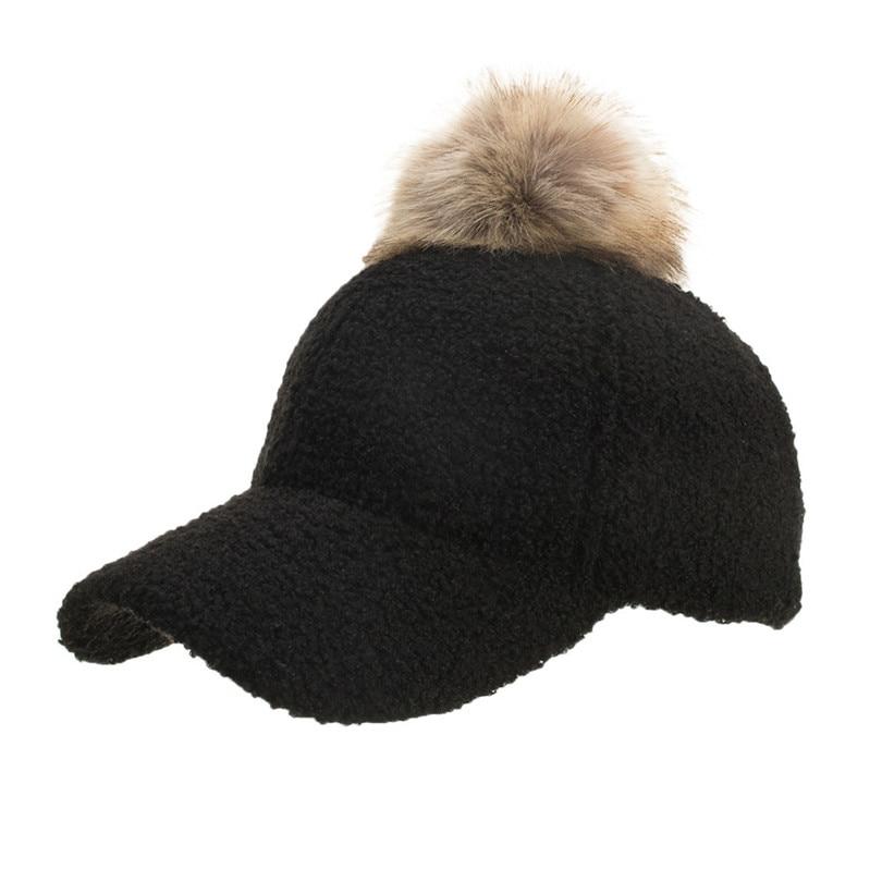 Winter Women\`s Caps Wool Baseball Cap Black Tactical Hat Shade Hats Winter Casual Bone Gorras Para Hombre Wholesale 40OR1519