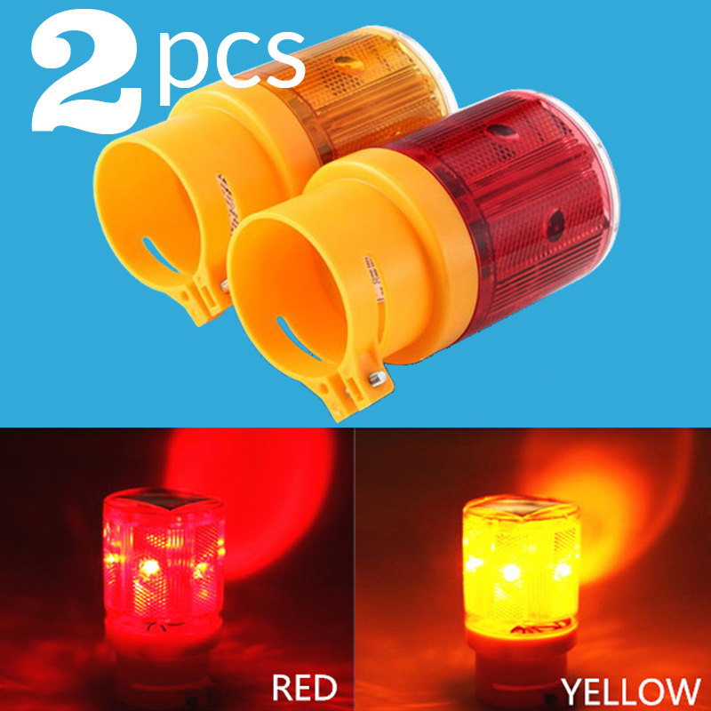 Solar Warning Light LED Safety Signal Beacon Alarm Energy Lamp Solar Powered Traffic Tower Strobe Red Yellow Emergency Light