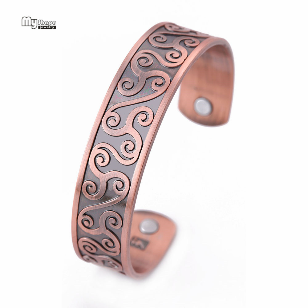 My Shape Vintage Teen Bracelet Men Health Ankle Magnetic Bracelets Bangles for Women Viking Cuff Bangle Cloud Engraved